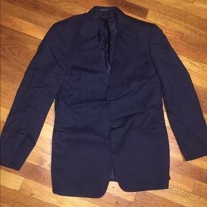 Armani Dark Navy checked suit jacket